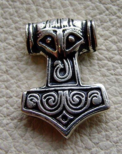 Lederbeutel Dukatenbeutel Geldkatze Farbe schwarz Mjölnir Thor Hammer klein - 2