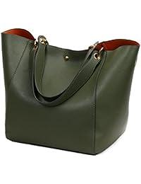 eb31c89a45ae5 Pahajim Frauen Leder Top Griff Handtaschen Schulranzen Handtasche Messenger  Pack Tasche Dunkelblau Geldbörsen und Handtaschen auf…