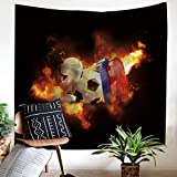 MSHTXQ Basketball Sports Printing Home Tapestry Wall Hanging Polyester Beach Towel Beach Blanket 150X130CM
