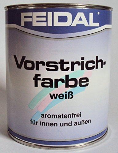 Feidal Vorstrichfarbe / weiss / 250 ml / aromatenfrei / auf Lösemittelbasis / für innen u. aussen / Vorstreichfarbe für Holz, Metall, Hartfaserplatten, Sperrplatten u.v.m