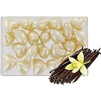 Caja de 24 perlas de aceite de baño fantasías - Corazón perfume vainilla
