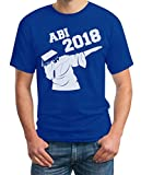 Geschenk Zum Abitur - Abi Dab, Dabbing Abschluss 2018 T-Shirt Large Blau
