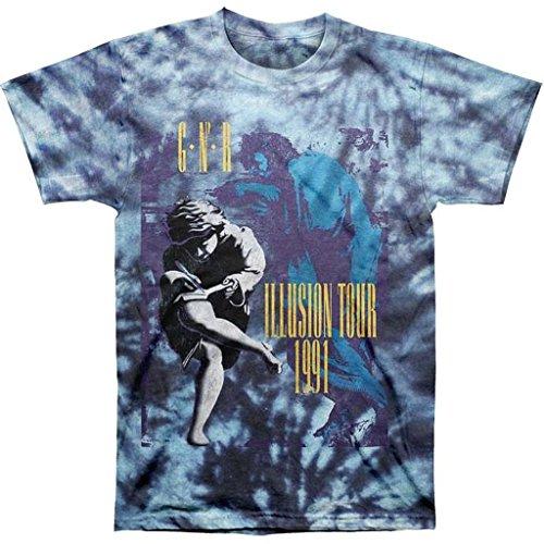 Rose Tie Dye T-shirt (Guns N Roses Illusions 91 Tour Tie-Dye Herren T-Shirt)