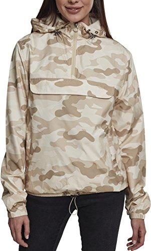 Urban Classics Damen Jacke Ladies Camo Pullover, Mehrfarbig (Sand Camo 00867), X-Small (Herstellergröße: XS)