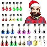 Aitsite Ornamenti per Barba, 20 Pezzi Campane di Natale per Barba, Clip per Barba di Babbo Natale 6 Campane di Tintinnio Suonanti, 14 Ornamenti per Bagattelle per Barba