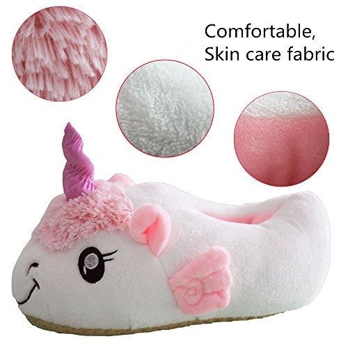 Rainbow Fox Super Mode Einhorn Schuhe Weich Plüsch Hausschuhe Weiß Einhorn Geschenke zum Erwachsene 2017 Neu Entwurf white