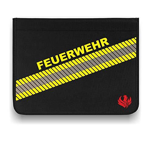 Roter Hahn 112 Hochwertige Feuerwehr 3M Scotchlite Schreibmappe Organizer Konferenzmappe HUPF Design Reflex -