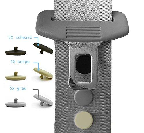 5 X Sicherheitsgurt Stopper Gurtheber - Sicherheitsgurt Halter Anschlagstopper Gurtheber reparatur Klipse (schwarz)
