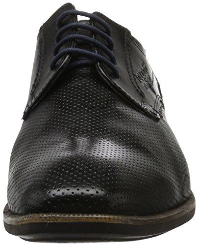 Bugatti 311189011000, Zapatos Con Cordones Para Hombre Negro (negro / Negro 1010)