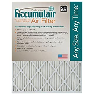 Accumulair Actual Size Accumulair Platinum 1 Filter Merv 11, 20 L x 23 W, 4 Piece by Accumulair