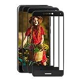 Protector de Pantalla Huawei P8 Lite 2017 [3 Pack], Supband Protector Pantalla de Cristal Templado para Huawei P8 Lite 2017/Vidrio templado Para Huawei P8 Lite 2017 -Negro