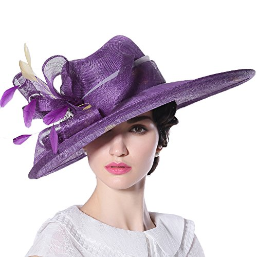 junes-young-women-hats-church-hat-sinamay-formal-hat-wedding-party-bucket-hat-purple