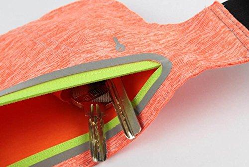 FZHLY Neue Lauf Handy-Taschen Männer Und Frauen Multifunktionales Ultradünne Tasche CamouflagePink