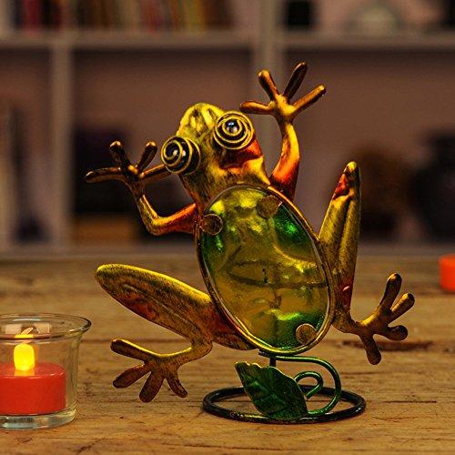 Kerzenhalter Ornamente Retro Bügeleisen Frosch Hochzeit Geburtstag Geschenk Anderen 1 Installierten Anlagen, Große (Schwarz Halloween Kandelaber)