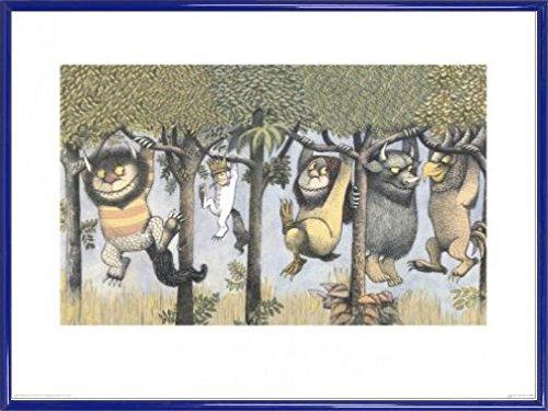Maurice Sendak Poster Kunstdruck und Kunststoff-Rahmen - Let The Wild Rumpus Start II (80 x 60cm)