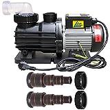Schwimmbadpumpe POOL-STAR-500, Filterpumpe POOLPUMPE bis 9000L/h ab 15cbm Schwimmbad / Swimmingpool bis max.ca. 40-45cbm energiesparsam zuverlässig und effektiv, leichte werkzeuglose Filterreinigung, mit 1,2m Kabel
