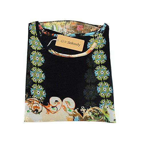 Oksakady Frauen Lose T-Shirt Chiffon Batwing Ärmel Bluse Plus Size Tunika BOHO-30