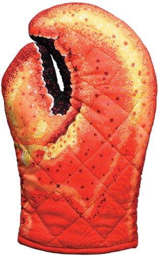 Boston Warehouse Trading Corp Lobster Claw Oven Mitt, Lobster (Boston Warehouse Forno Mitt)
