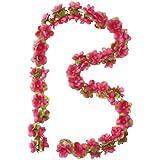 Basil Flower Garland bloemenkrans, polyester, fuchsia, één maat