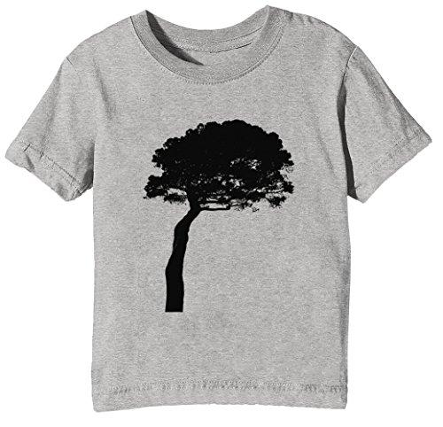 Jungen Kiefer-t-shirt Für (Kiefer Kinder Unisex Jungen Mädchen T-Shirt Rundhals Grau Kurzarm Größe XL Kids Boys Girls Grey X-Large Size XL)