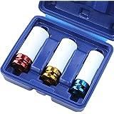 Radmutter-Einsatz in drei Größen (ca. 17, 19 und 21 mm) inkl. Aufbewahrungsbox