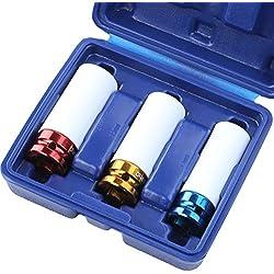 TIMBERTECH Radmutter-Einsatz in DREI Größen (ca. 17, 19 und 21 mm) inkl. Aufbewahrungsbox