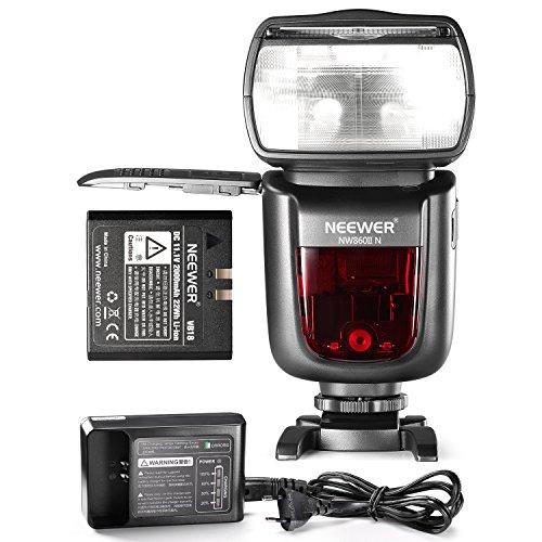 Neewer® NW860IIN 2.4G Funk 1/8000 HSS TTL Master Slave Blitz Speedlite für Nikon DSLR-Kamera mit 2000mAh aufladbaren Lithium-Ionen-Batterie bereitzustellen 650 Volle Leistung Blitze Aufladezeit weniger als 1,5 s