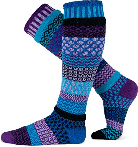 Solmate Socks - Odd or Mismatched Knee Socks for Women or for Men, Made with Recycled Cotton Yarns in USA