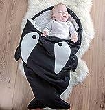 YOUJIA Warme Hai Schlafsack für Kinder Neugeborenen Baby Kleinkind Babyschlafsack 92cm * 65cm Grau