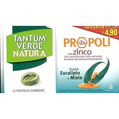 Angelini Tantum Verde Natura Pastiglie Gommose Eucalipto E Miele 15 Pastiglie