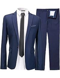 Harrms Hommes Costumes d'affaires polyester&fibre svelte 2 pièces pour costume + pantalon Taille 46 ~ 56 Pour Travail, fêtes, mariages