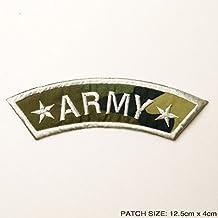 Militar Ejército Blanco Frontera bordado insignia parche hierro o coser en 12,5cm x 4cm