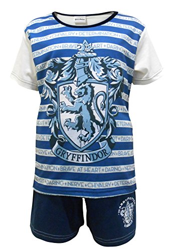 Get Wivvit Girls Official Harry Potter Gryffindor Stripe Shorty Pyjamas PJ's Sizes from 5 to 12 Years