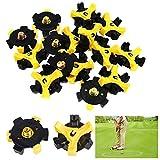 REYOK 20 Stück Universal Anti-Rutsch Golf Schuh Spikes Champ Stollen Pins für Golf Sport Schuhe