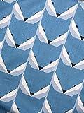 Baumwollstoff Füchse, hellblau/grau, hellbeige/grau, blau/grau, Breite 160 cm (Blau/grau, 2,0m x 1,60m)