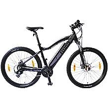 bicicleta eléctrica fitifito Copenhagen 27,5 pulgadas E-bike ,36v 250w,negro mate gris, mountainbike