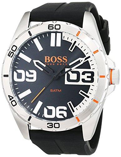 BOSS Orange - 1513285 - Montre Homme - Quartz - Analogique - Bracelet Silicone Noir
