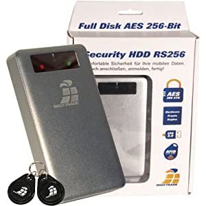 DIGITTRADE RS256 1TB RFID Security Hard Disk Esterno Cifratura 256-Bit AES (6,4 cm (2,5 Pollice), 5400rpm, 8MB Cache, USB 2.0) e Acronis Backup Software