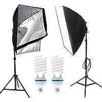 Un Green Energy Lampade Fotografia Professionale Equiment Studio di illuminazione,2x E27 5500k Lampade continui 150w, 2x50x70cm Softbox Studio continua,150w Continuous corredo della luce Photograhy Studio
