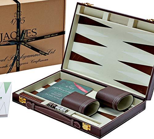 Jaques of London Backgammon Set - 11 Zoll - Luxus-Backgammon-Set - Great Reise - Backgammon-Set