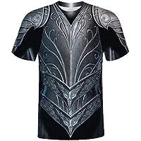 Sylar Camiseta de Manga Corta para Hombre Retro 3D Digital Estampado de Armadura T-Shirt Originales Casual Camisetas Cuello Redondo Vintage Verano Slim Fit tee