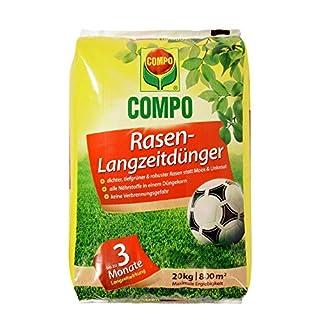 COMPO Rasen-Langzeitdünger, 3 Monate Langzeitwirkung, Feingranulat, 20 kg, 800 m² (B000PKKJSI)   Amazon Products