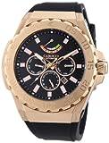 Carucci Watches CA2204RG-BK - Orologio da polso uomo, caucciú, colore: nero