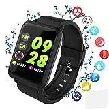 Smartwatch Fitness-Tracker, wasserdichte Sportuhr, Aktivitätstracker, Smart-socken mit Herzfrequenz, Blutdruck, Schlafmonitor, Schrittzähler, Smart-socken, kompatibel mit Android iOS