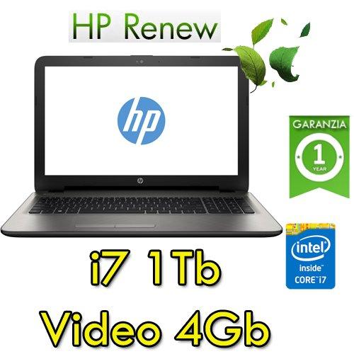 Notebook HP 15-ay073nl Core i7-6500U 16Gb 1Tb 15.6in HD BV LED AMD Radeon R7 M1-70 4GB Windows 10 HOME (Ricondizionato)