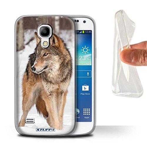 lle/Hülle für Samsung Galaxy S4 Mini/Wolf Muster/Wilde Tiere Kollektion ()