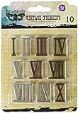 Prima Marketing Sunrise Sunset Mechanicals Metal Vintage Trinkets-Roman Numerals 1-inch