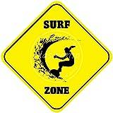 Shunry Surf Zone Vintage Plaque Affiche Étain Métal Mur Signe Rétro Décoration pour Bar Café Garage Gaz Station Accueil Club