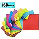 Papel Origami - 160 Hojas de Origami Papel de Papiroflexia Colores para DIY Manualidades Proyectos