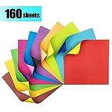 Origami Papier Zweifarbig - 160 Blatt Faltpapier Bastelpapier Kontrastfarben Faltblätter für Origami und Bastelprojekte